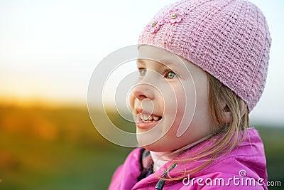 Little girl in cap