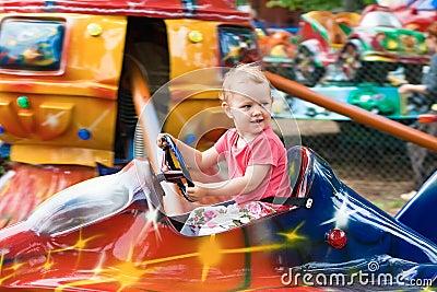The little girl on carousel