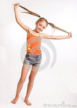 Little girl in casual dress