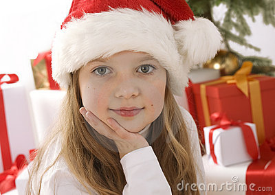 Little girl with christmas