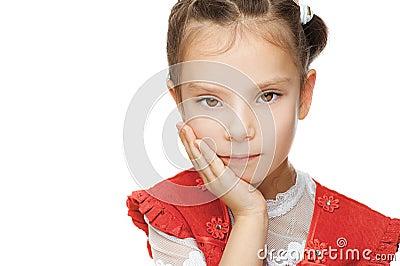 Little girl close up