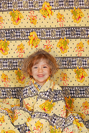 Little girl in colorful linen