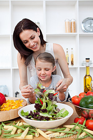 Free Little Girl Cooking With Her Mother Royalty Free Stock Photos - 11996968