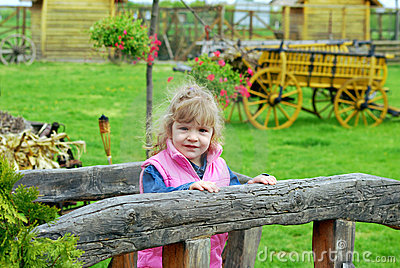 Little girl on the country