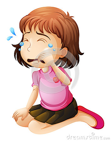 A Little Girl Crying Stock Vector - Image: 39024380