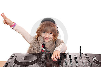 Little girl dj