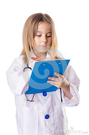 Little girl in doctor costume