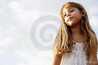 Little girl dreaming