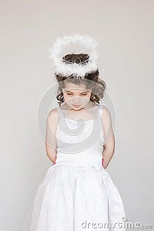 Little Girl Dressed As An Angel
