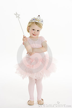 Free Little Girl Dressed As Fairy Stock Photos - 12406783
