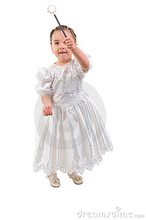Free Little Girl Dressed As Fairy Or Princess. Stock Photography - 12165082