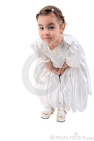Free Little Girl Dressed As Fairy Or Princess. Royalty Free Stock Photography - 13291927