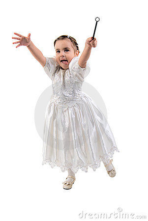 Free Little Girl Dressed As Fairy Or Princess. Stock Photos - 13291933