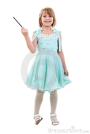 Free Little Girl Dressed As Fairy Or Princess. Stock Photos - 13769963