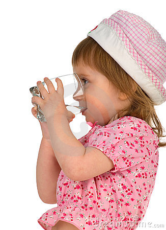 Free Little Girl Drink The Water Stock Photography - 9396342