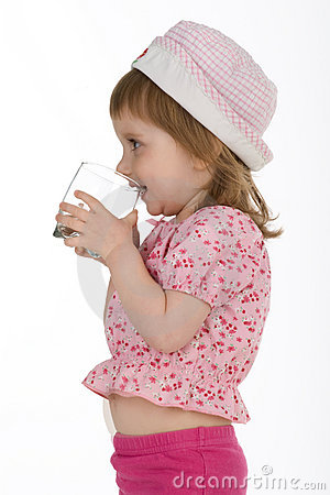 Free Little Girl Drink The Water Stock Photo - 9966970