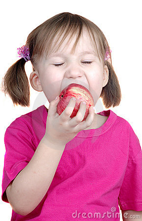 Free Little Girl Eating Apple Royalty Free Stock Images - 13208399
