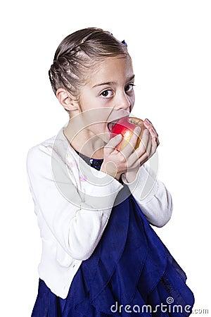 Little girl eating healthy