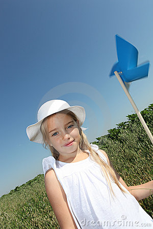 Little girl and ecology