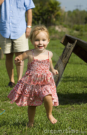 Little girl on farm