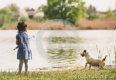 Little girl at fishing