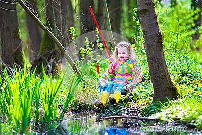Little girl fishing stock photo image 53065080 for Little girl fishing pole