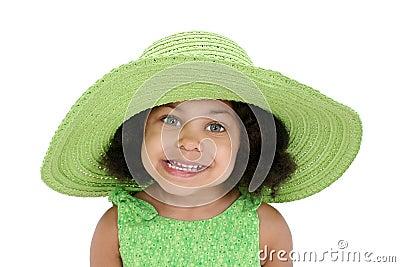 Little girl in floppy hat