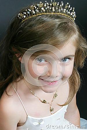 Little girl in flower-girl wear