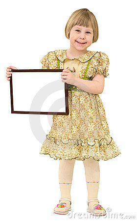 Little Girl With Frame Royalty Free Stock Photo - Image: 9763545