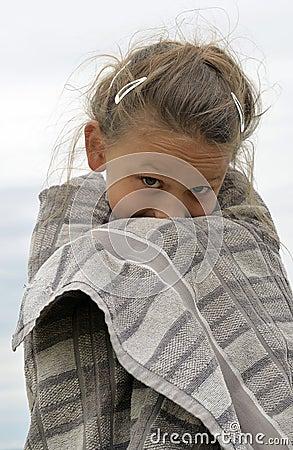 Little girl freezing