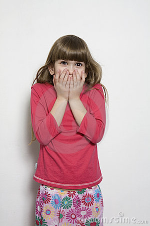 Little Girl with a Funny Expression