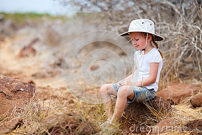 Little girl at Galapagos islands