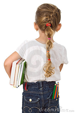 Free Little Girl Going Back To School Royalty Free Stock Image - 15313316