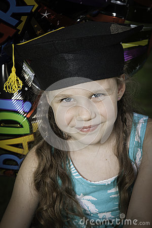 Little Girl Graduates Kindergarten 2