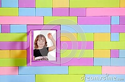 Little girl greeting