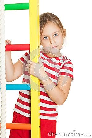 Little girl gymnast