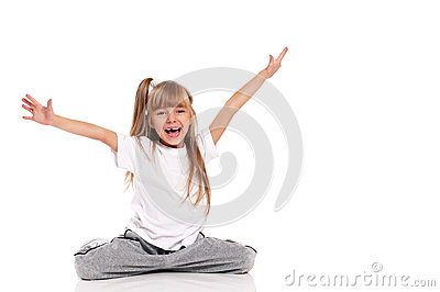 Little girl gymnastic