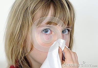 Little girl with handkerchief