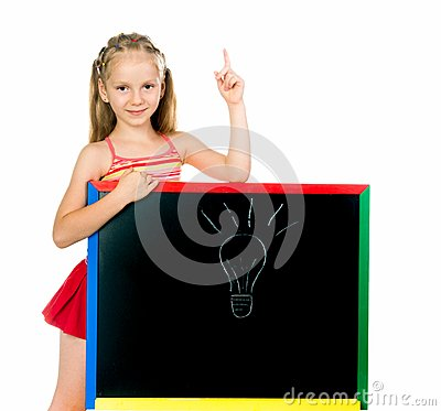 Little girl has an idea