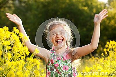Little girl having fun