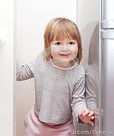 Little girl having fun playing