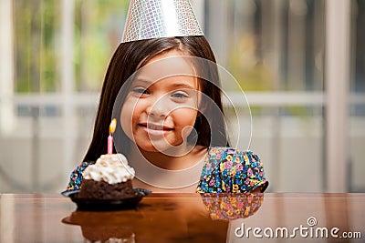Little girl on her birthday