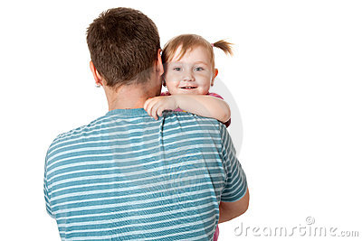 Little girl with her dad