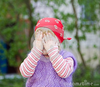 Little Girl Hiding Stock Photos - Image: 9255873