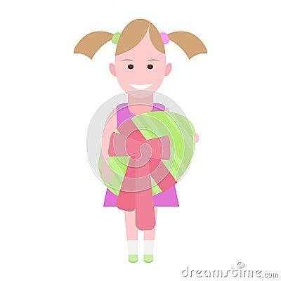 Little girl holds an Easter egg