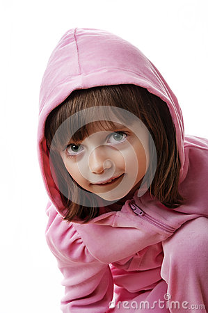 Little girl with a hood