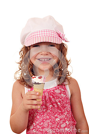 Little girl with ice cream