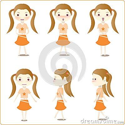 Little girl illustrations