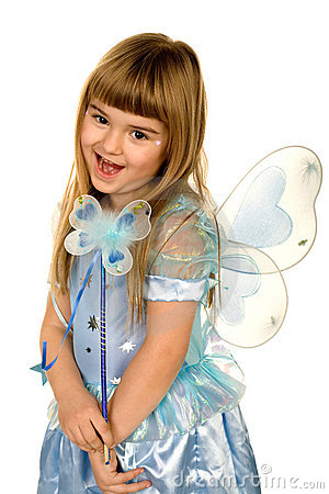 Free Little Girl In A Fairy Costume Royalty Free Stock Photo - 1985365