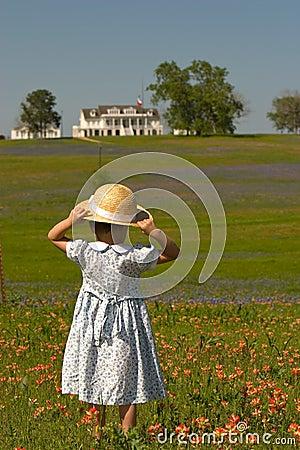 Free Little Girl In Field Of Flowers Stock Image - 4926761